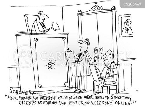 break and enter cartoon