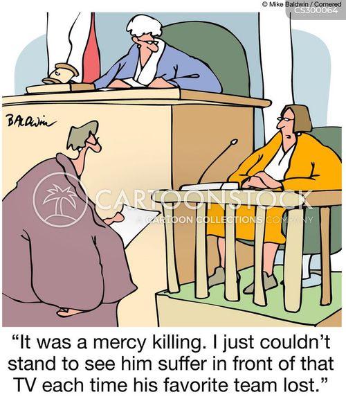 mercy killing cartoon