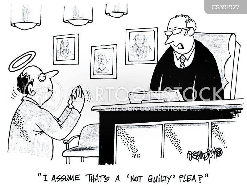 not guilty pleas cartoon