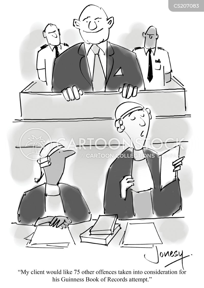 criminal courts cartoon