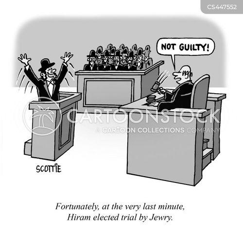 jury trials cartoon
