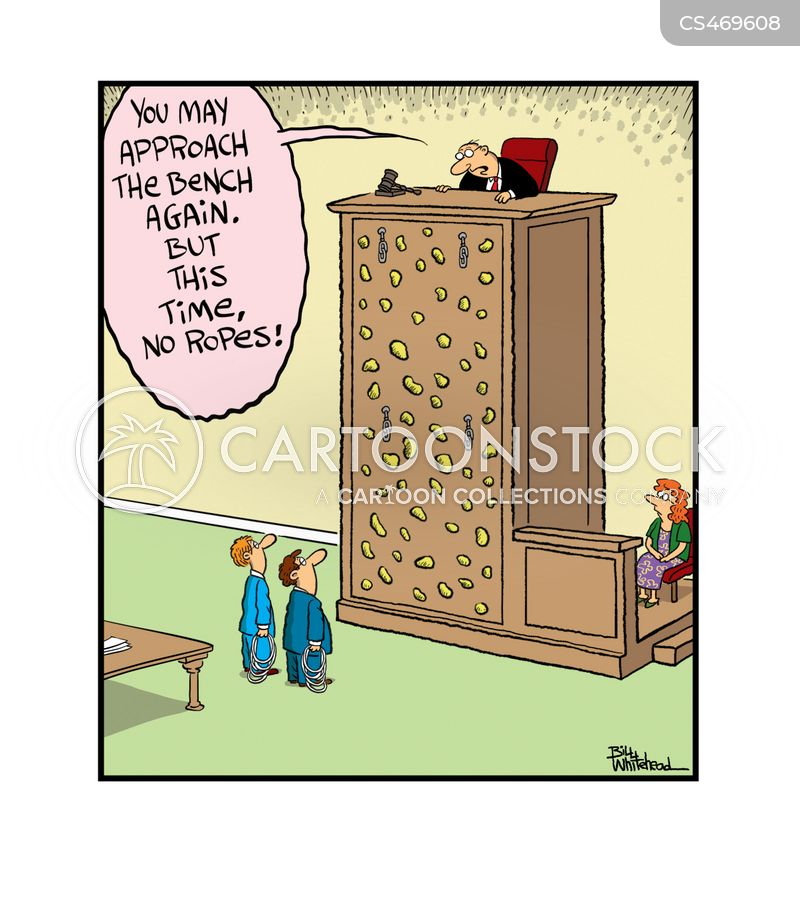 climbing wall cartoon