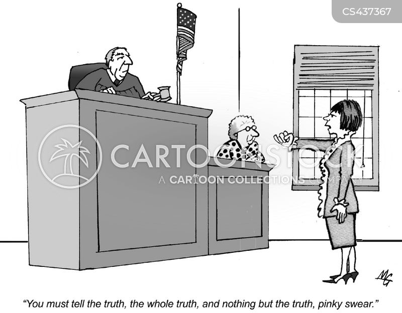 witness testimony cartoon