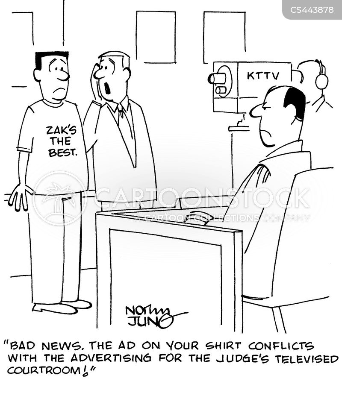 televised trials cartoon