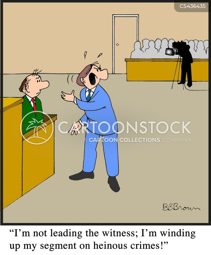 cross examination cartoon