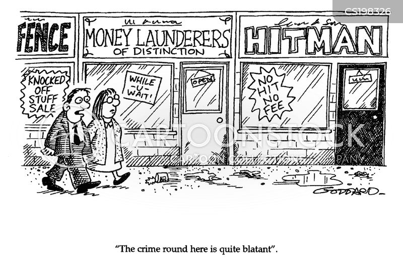 money laundering cartoon