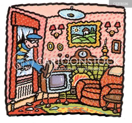 House Security Cartoons and Comics