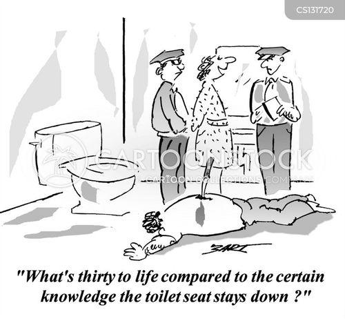 knifing cartoon