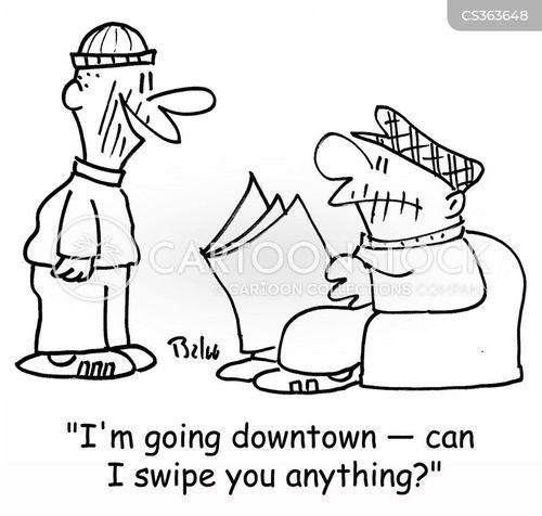 swiping cartoon