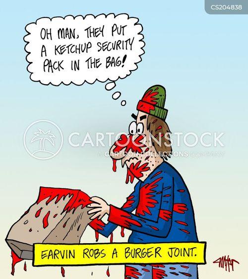 burger joint cartoon