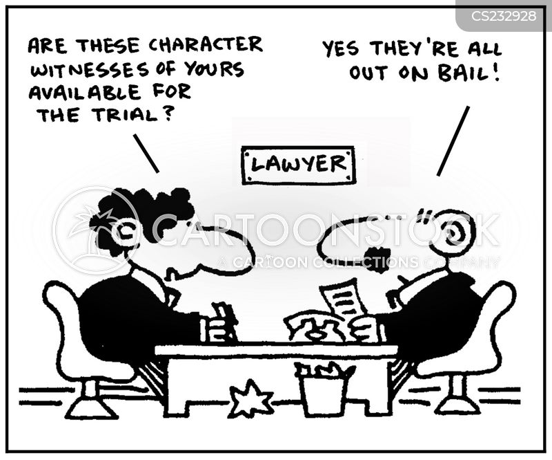 character witness cartoon