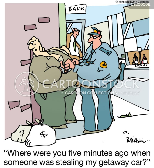 car thief cartoon