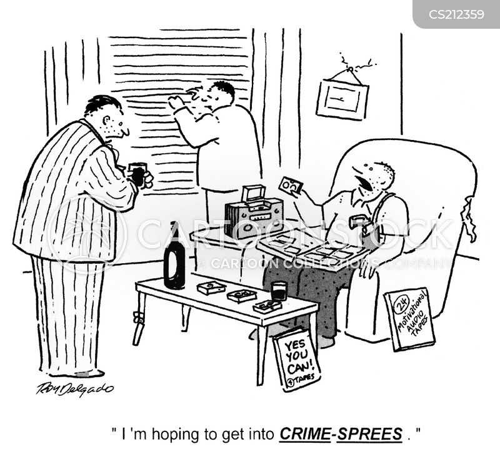 professional criminals cartoon