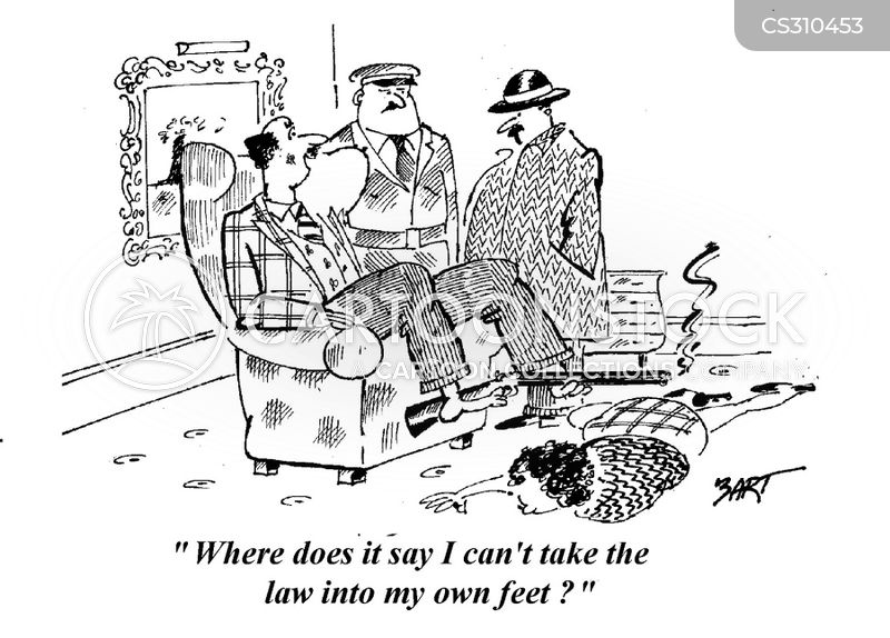 law into own hands cartoon