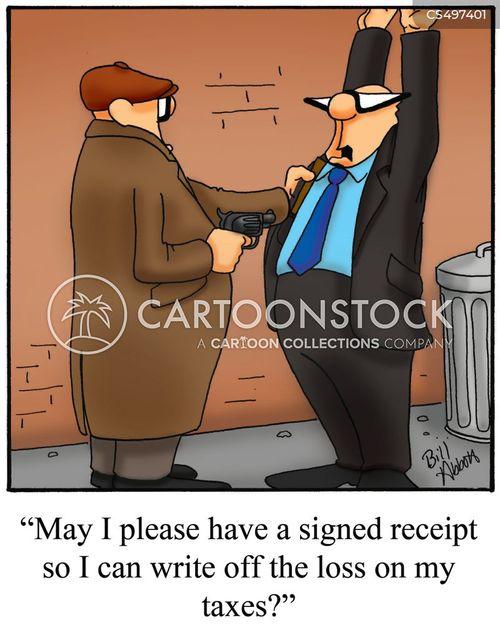 tax receipts cartoon