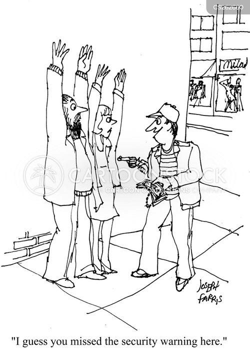 security warning cartoon