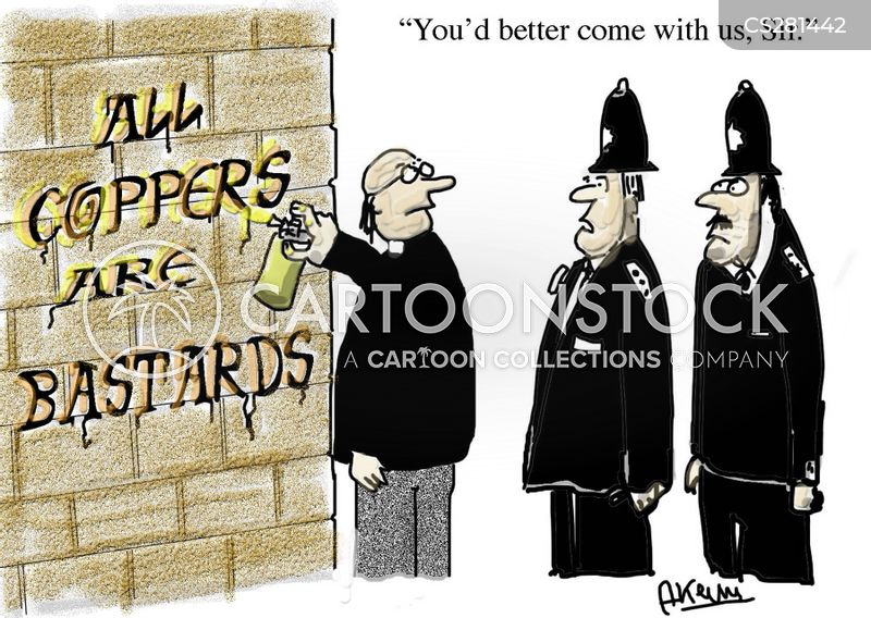 the police cartoon