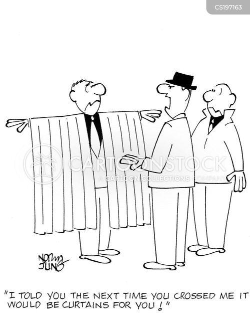 curtain cartoon
