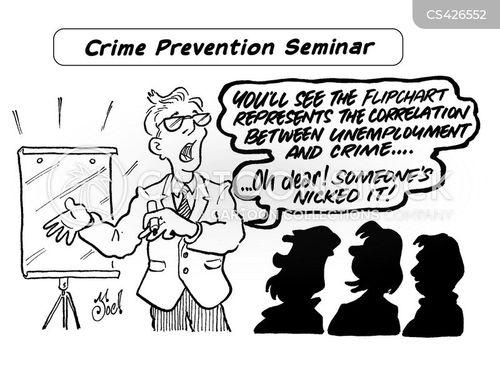 crime prevention cartoon