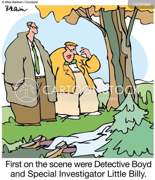 crime solving cartoon