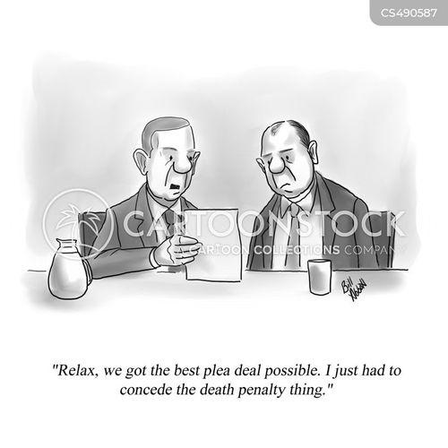 plea deal cartoon