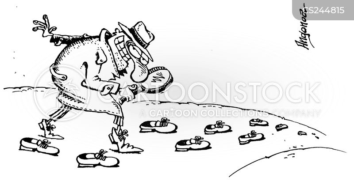 foot prints cartoon