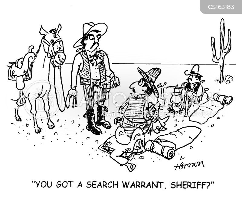 search warrant cartoon