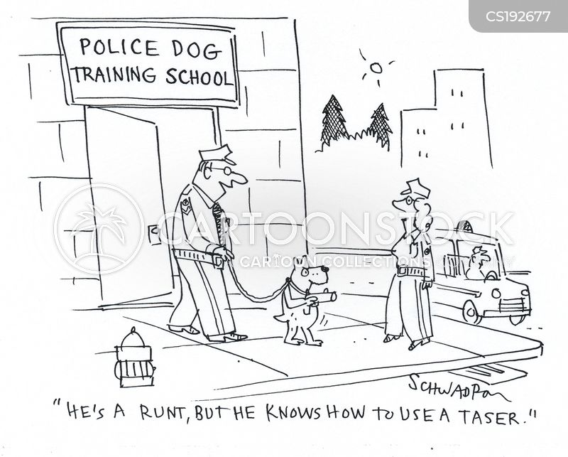 tasers cartoon