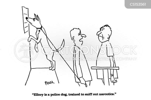 drug raids cartoon