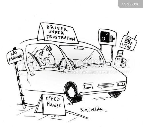 speed humps cartoon