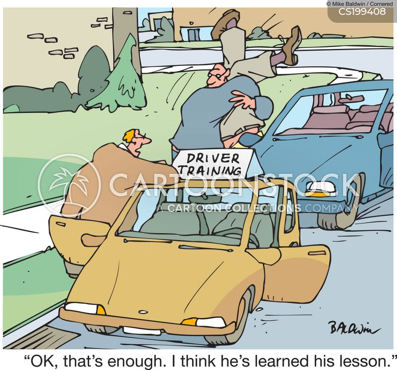 driving license cartoon