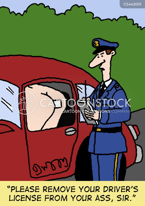 drivers licence cartoon