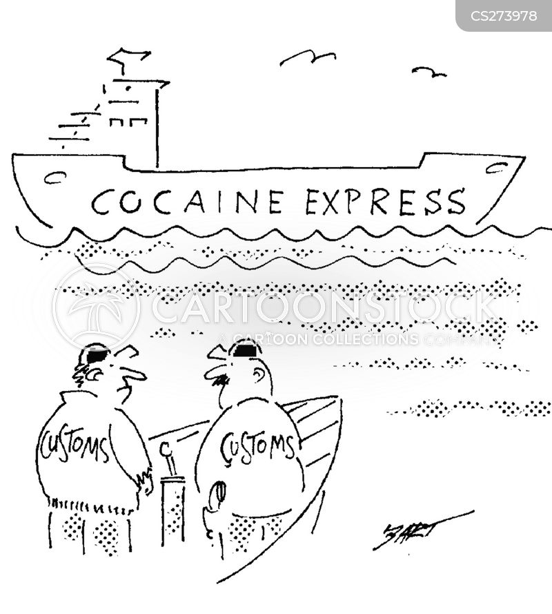 drug smuggling cartoon