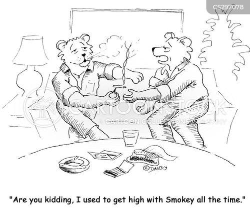 drug takers cartoon