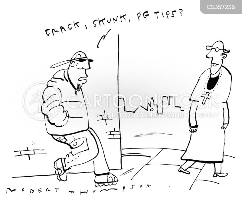 selling drugs cartoon