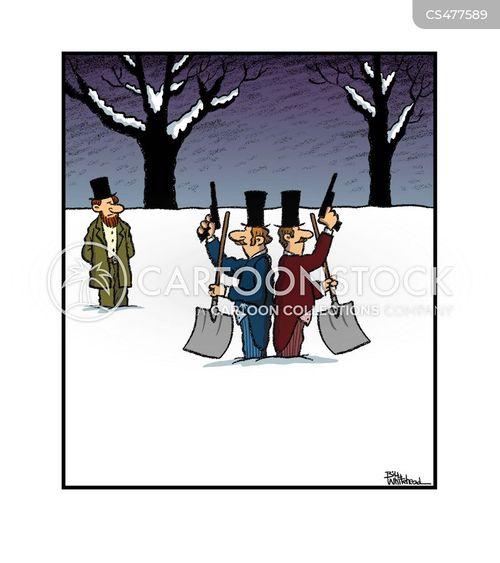 gunfighting cartoon