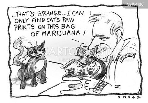 finger-print cartoon