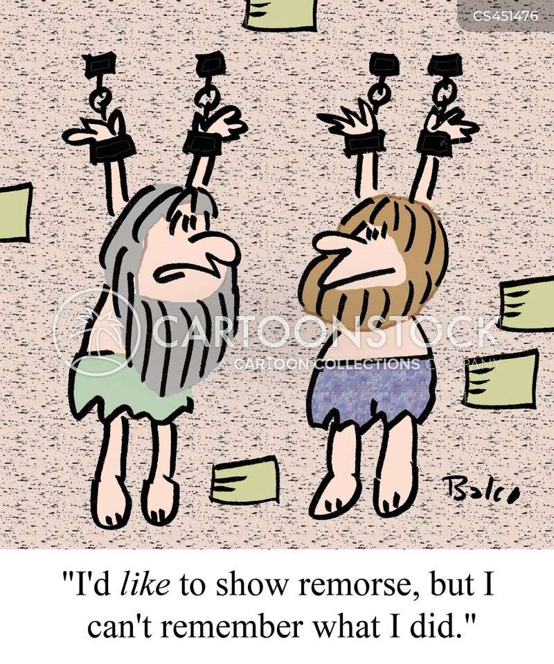 showing remorse cartoon