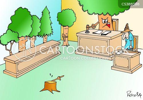 wood chopper cartoon
