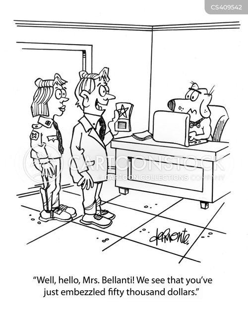embezzles cartoon