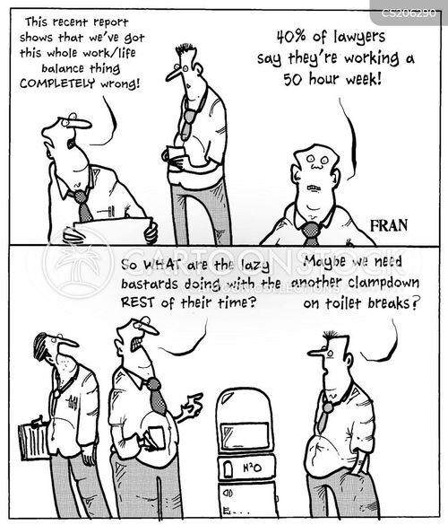 work life balances cartoon