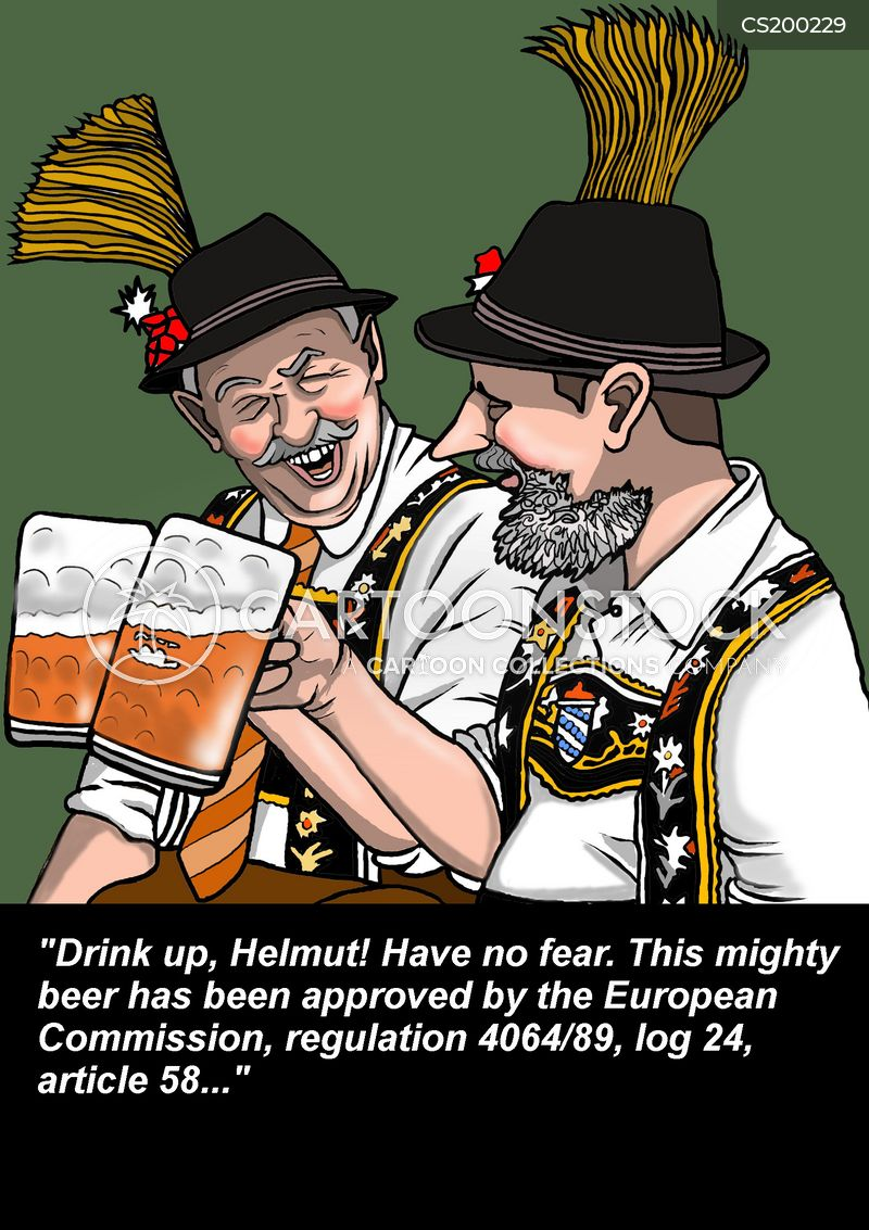 beer drinker cartoon