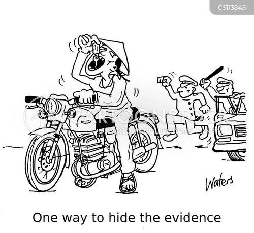 motor bike cartoon