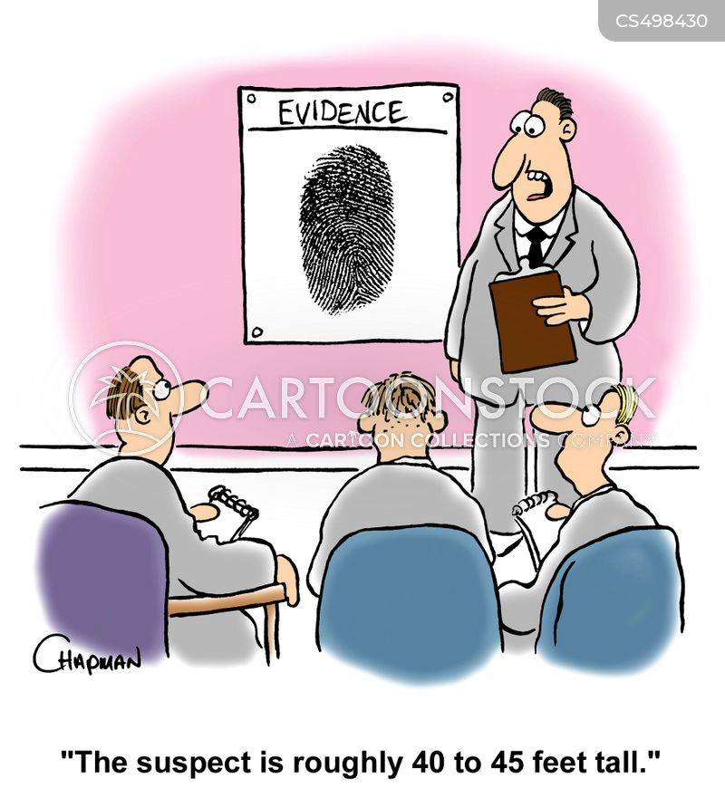 forensic evidence cartoon