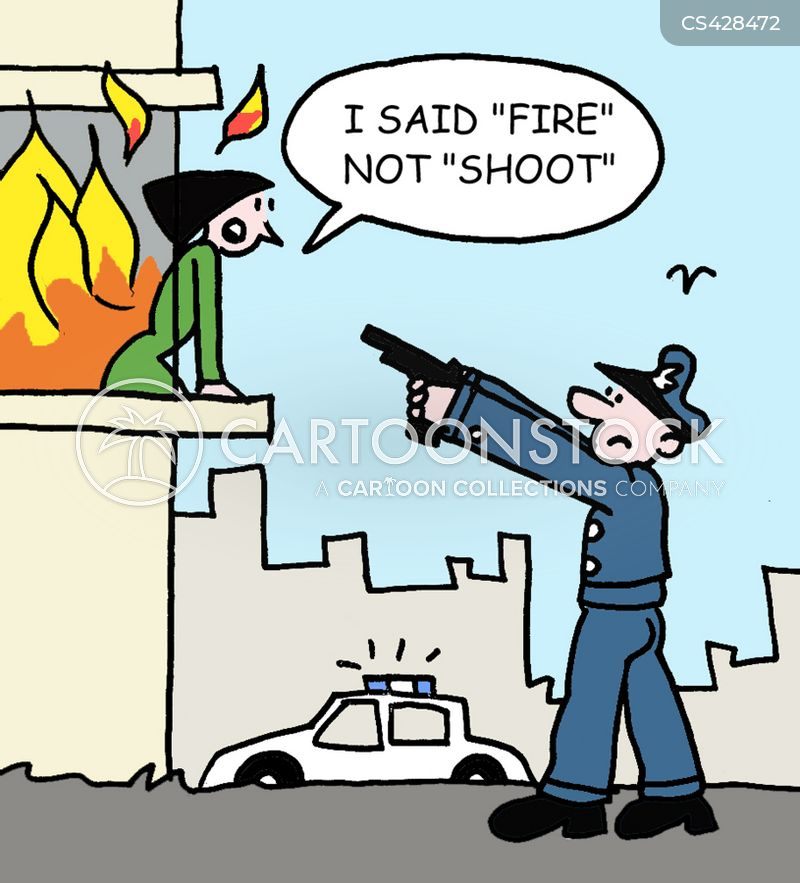 emergency responses cartoon