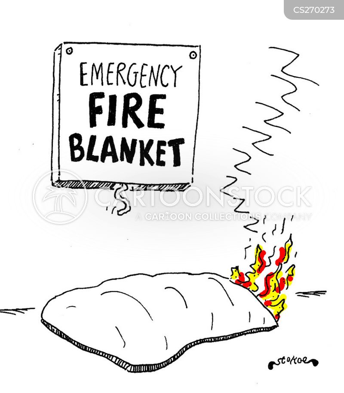 fire procedures cartoon