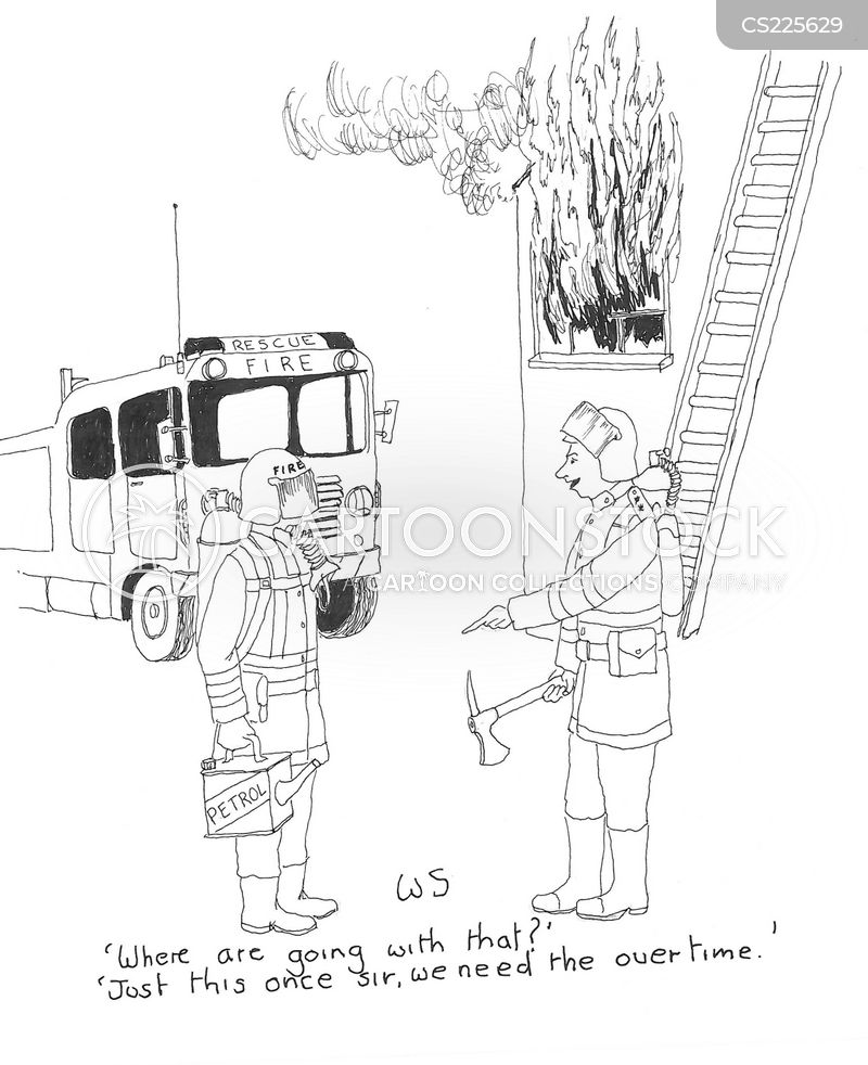 fire brigades cartoon
