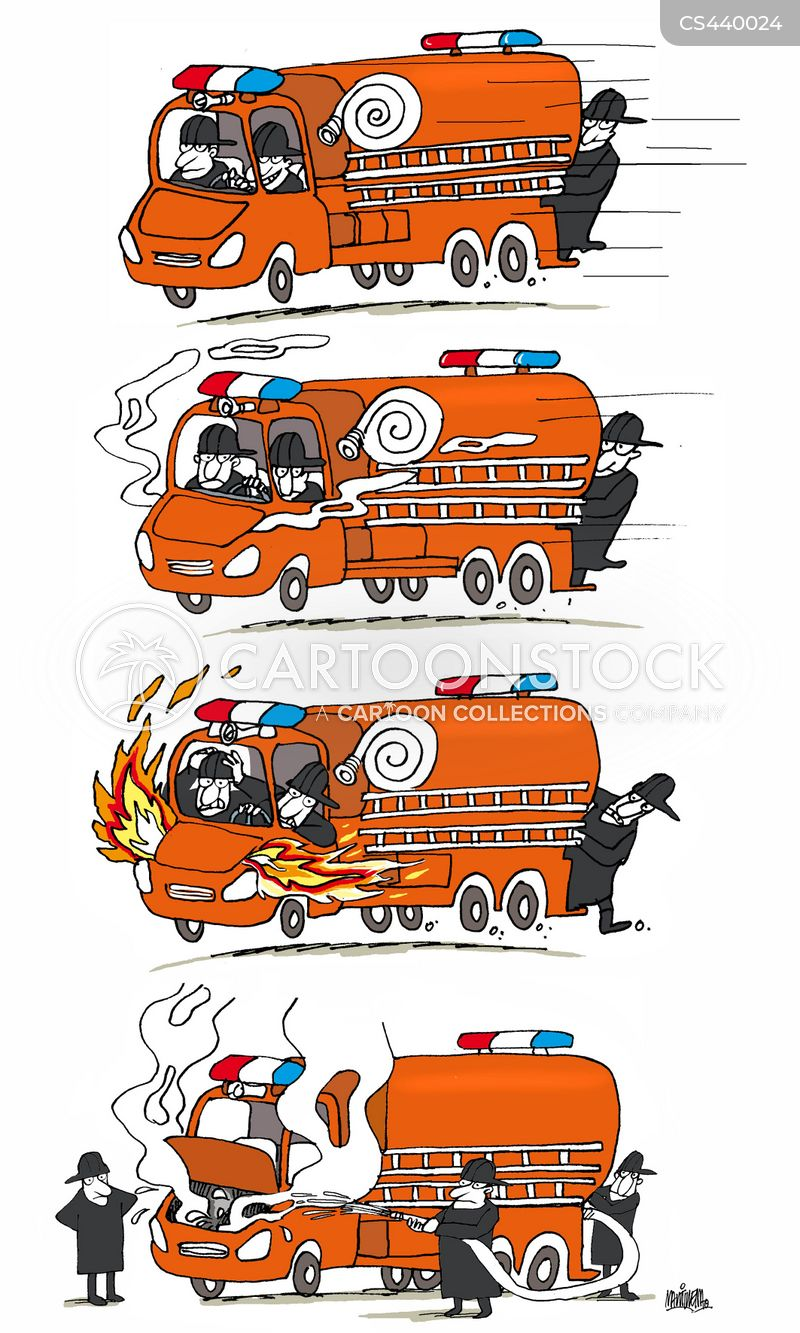 fire officers cartoon