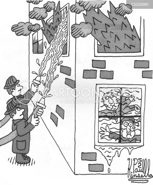 firefighting cartoon