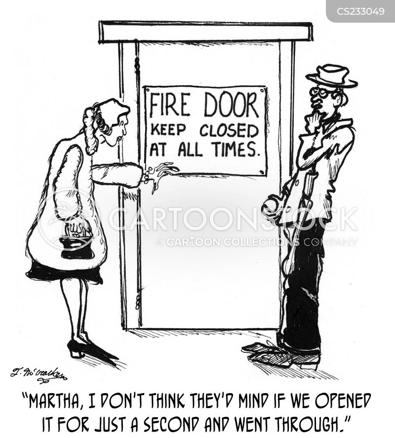 Procedure Cartoons Fire Procedure Cartoon 4 of 7